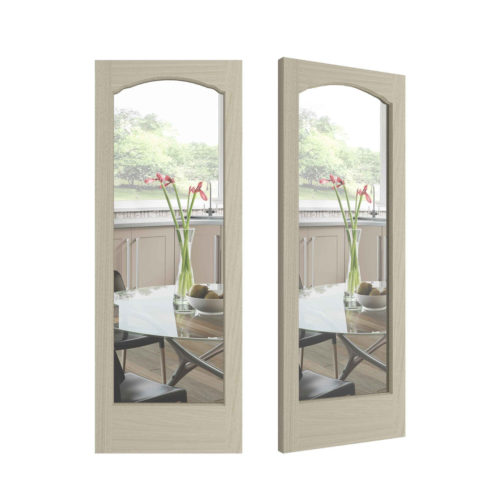 French Curves Door - Clear Glass