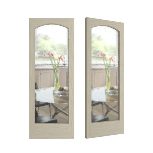 French Curves Door - Hourglass patterned Glass