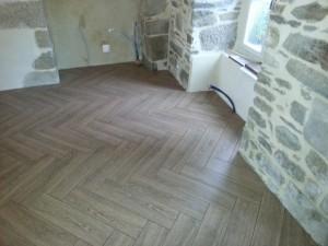 Herringbone las hardwoods for Pose carrelage