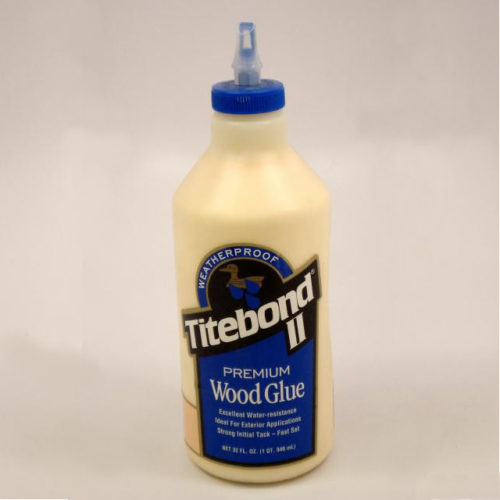 Titebond II Premium Wood Glue is the only leading brand, one-part wood glue that passes the ANSI Type II water-resistance specification. It is ideal for exterior woodworking projects, including outdoor furniture, birdhouses, mailboxes, planters and picnic tables. 32 Ounce Bottle.