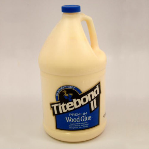 Titebond II Premium Wood Glue is the only leading brand, one-part wood glue that passes the ANSI Type II water-resistance specification. It is ideal for exterior woodworking projects, including outdoor furniture, birdhouses, mailboxes, planters and picnic tables. Gallon Container.