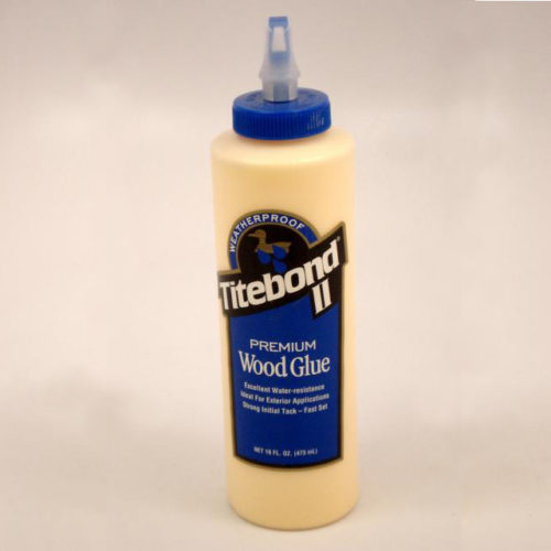 Titebond II Premium Wood Glue is the only leading brand, one-part wood glue that passes the ANSI Type II water-resistance specification. It is ideal for exterior woodworking projects, including outdoor furniture, birdhouses, mailboxes, planters and picnic tables. 16 Ounce Bottle.